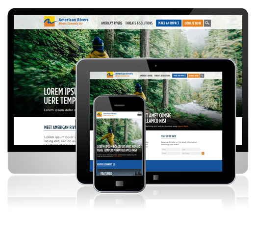 American Rivers Brand Refresh and Wordpress Website